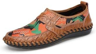 Yin-shoes shop 2018 Men's Loafer Flat Heel Solid Color Slip on Shoes Mocassins (Color : , Size :)