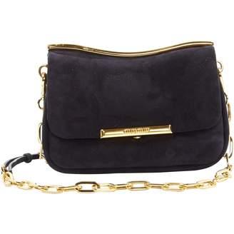 Miu Navy Suede Handbag