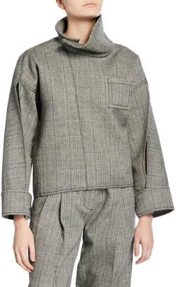 3.1 Phillip Lim Tweed Zippered Blouse
