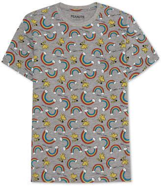 Peanuts Collection-Men Rainbow Print T-Shirt
