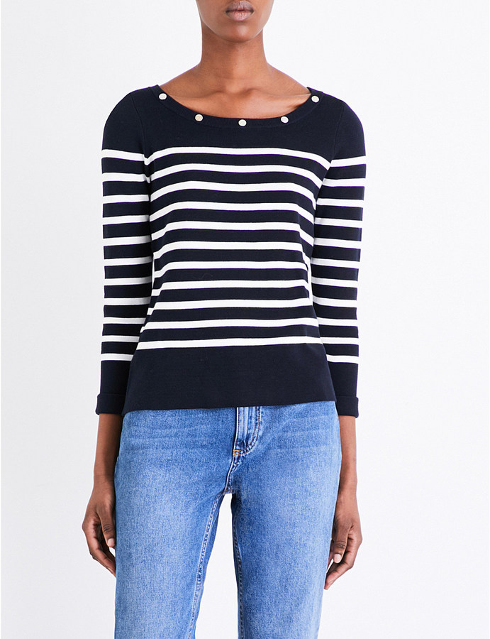Claudie Pierlot Marin striped cotton jumper