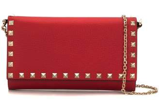 Valentino Rockstud wallet with chain