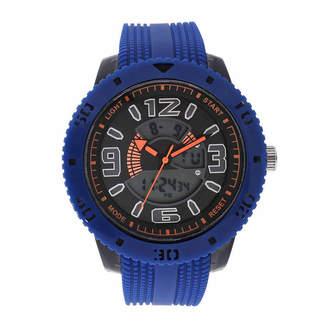 GENEVA Geneva Mens Blue Strap Watch