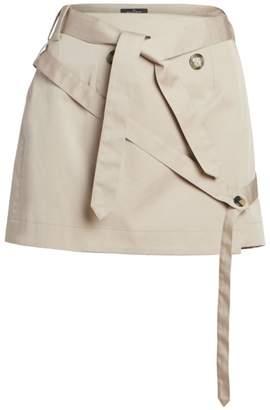 Rokh Belted Cotton Mini Skirt