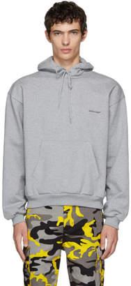 Balenciaga Grey Small Logo Hoodie