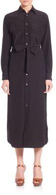 Polo Ralph Lauren Silk Shirtdress $298 thestylecure.com