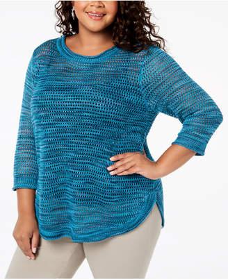 John Paul Richard Plus Size Pointelle Sweater