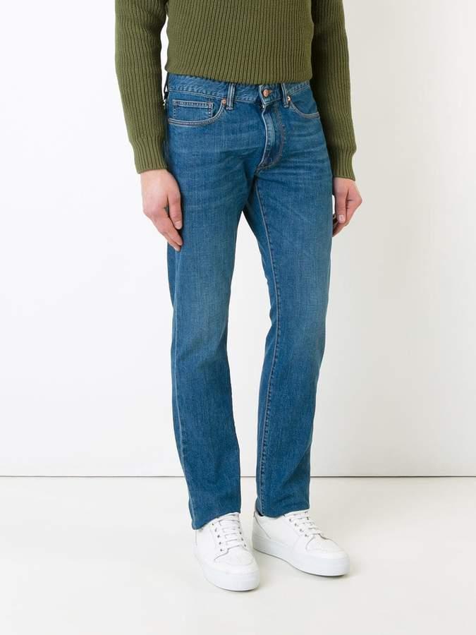 Incotex frayed-hem jeans