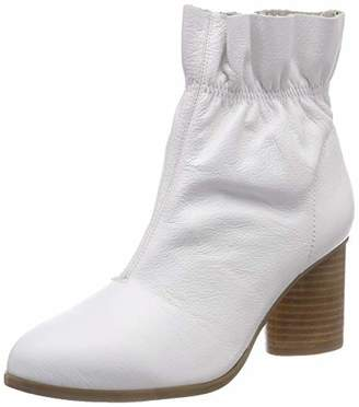 Bianco Women's Leather Boot Ankle (White 800)