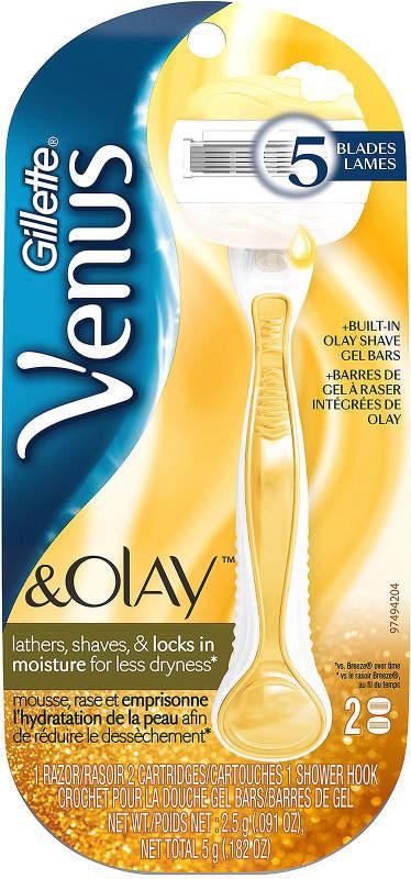 Gillette Venus & Olay Gold Women's Razor With Refills