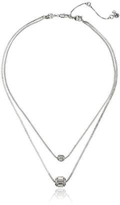 Kenneth Cole New York Delicates Faceted Stone Layered Duo Set Pendant Necklace
