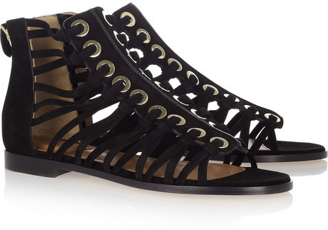 Givenchy Cutout suede sandals