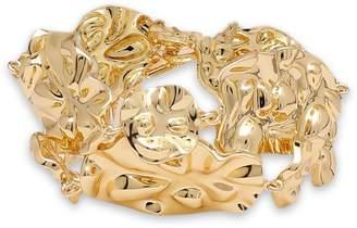 Noir Hammered Gold-tone Necklace