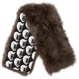 Diane von Furstenberg Fox Fur Scarf $205 thestylecure.com