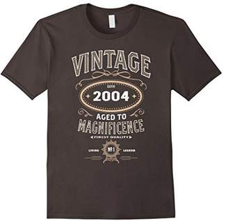 Vintage Aged To Magnificence 2004 14th Birthday Gift T-shirt