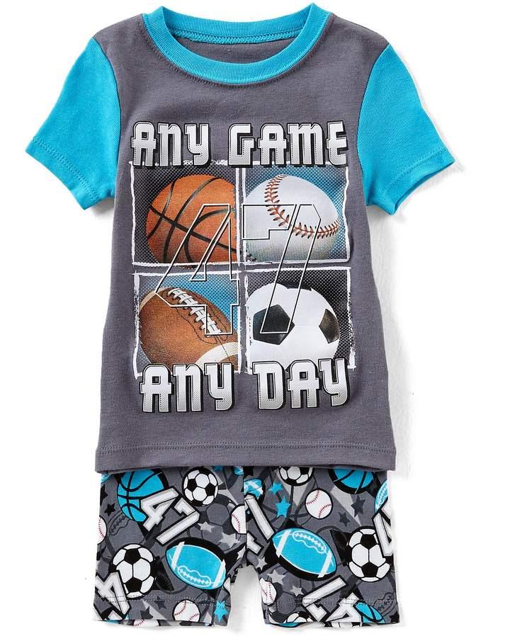 Dream Life by Little/Big Boys 2-14 Sports Short-Sleeve Tee & Shorts Pajama Set