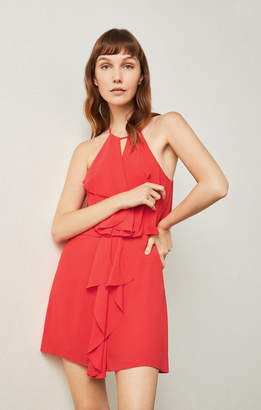 BCBGMAXAZRIA Caylan Ruffled Halter Dress