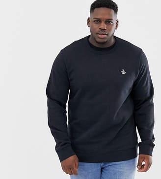 big & tall icon logo sweatshirt in black