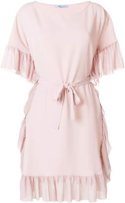 Blumarine frill trim dress