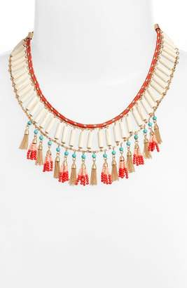 Rebecca Minkoff Luna Beaded Collar Necklace