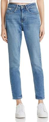 Calvin Klein Jeans Mom Jeans in Deep Blue $89 thestylecure.com