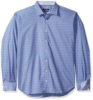 Bugatchi Men's Point Collar Button Down Fitted Sport Shirt