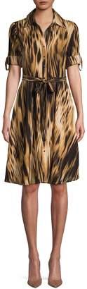 Nanette Lepore Nanette Short-Sleeve Tie-Waist Dress