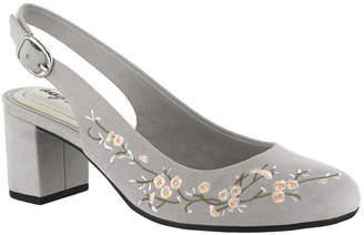 Easy Street Shoes Dainty Womens Pumps Buckle Round Toe Block Heel