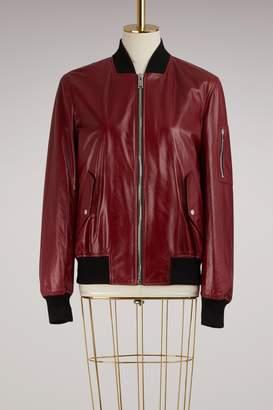 Proenza Schouler Shiny Leather Bomber Jacket