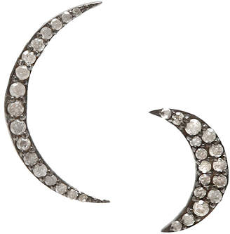 "ADORNIA Crescent Moon Stud Earrings ""Prince"""