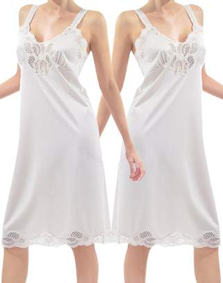 Under Moments Women Full Cami Slip Camisole Dress Nightgown 2 Pack 98b4a01cb