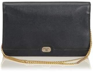 Christian Dior Vintage Leather Chain Shoulder Bag
