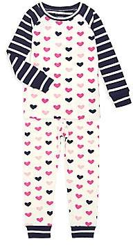 Hatley Little Girl's & Girl's Lovely Hearts Two-Piece Pajama Set