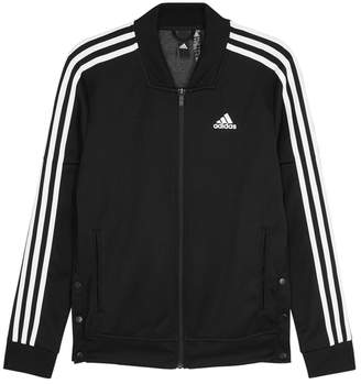 adidas Training Training Snap Track Black Jersey Sweatshirt