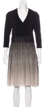 Paule Ka Silk-Blend Polka Dot Dress