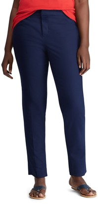 Chaps Plus Size Solid Straight-Leg Pants