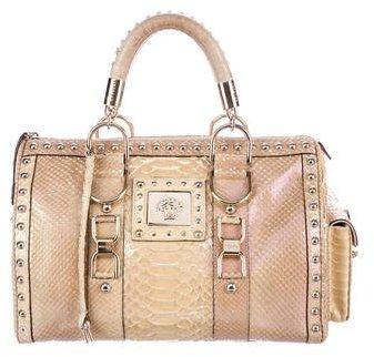 Versace Iridescent Python Madonna Bag