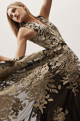 Anthropologie Golden Rose Ballgown