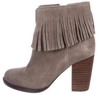 Neiman Marcus Suede Ankle Boots