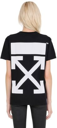 Arrow Printed Cotton Jersey T-Shirt $280 thestylecure.com