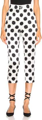 Dolce & Gabbana Polka Dot Pant in White | FWRD
