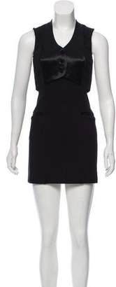 Alexander Wang Satin Trim Mini Dress