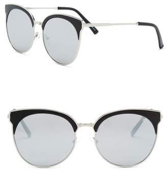 Quay Mia Bella 57mm Clubmaster Sunglasses
