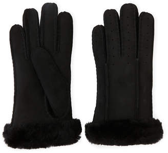 UGG Classic Perforated Real Fur Shearling Gloves
