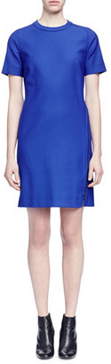 Lanvin Wrap-Around-Zip Stretch Woven Dress, Royal Blue $2,585 thestylecure.com