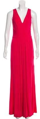 Issa Silk Evening Dress Pink Silk Evening Dress