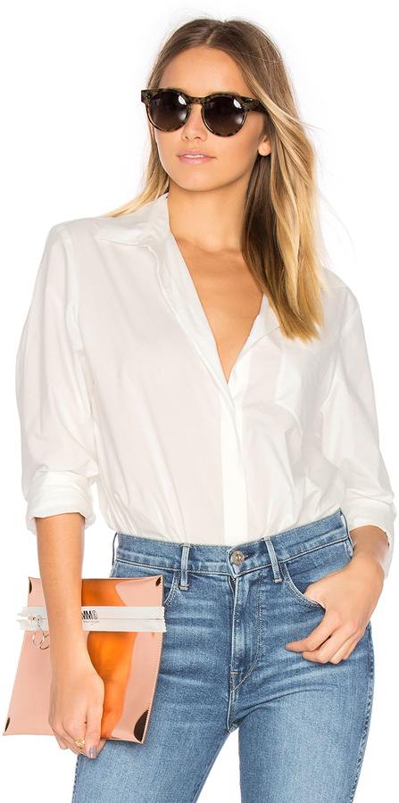 Alexander Wang T by Alexander Wang Long Sleeve Shirt Bodysuit