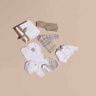 Burberry Cotton Six-piece Baby Gift Set $425 thestylecure.com