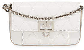 Givenchy Pocket Mini Pouch Convertible Clutch/Belt Bag - Silvertone Hardware
