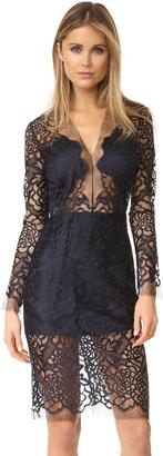 Michelle Mason Long Sleeve Lace Dress $863 thestylecure.com